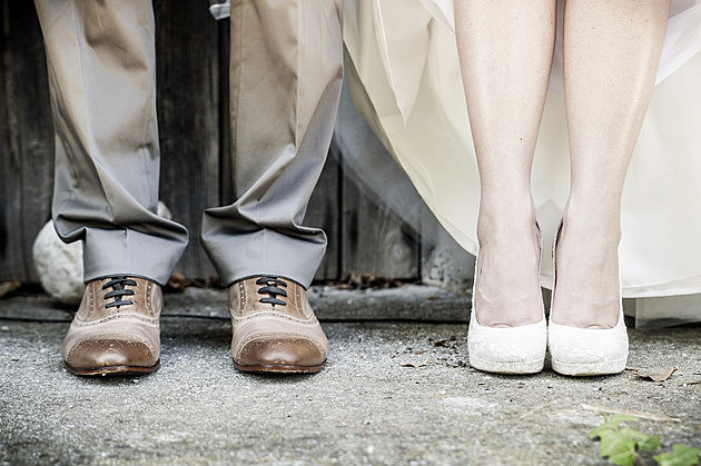 Feet of Wedding Couple